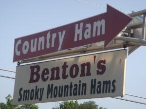 Benton\'s road sign